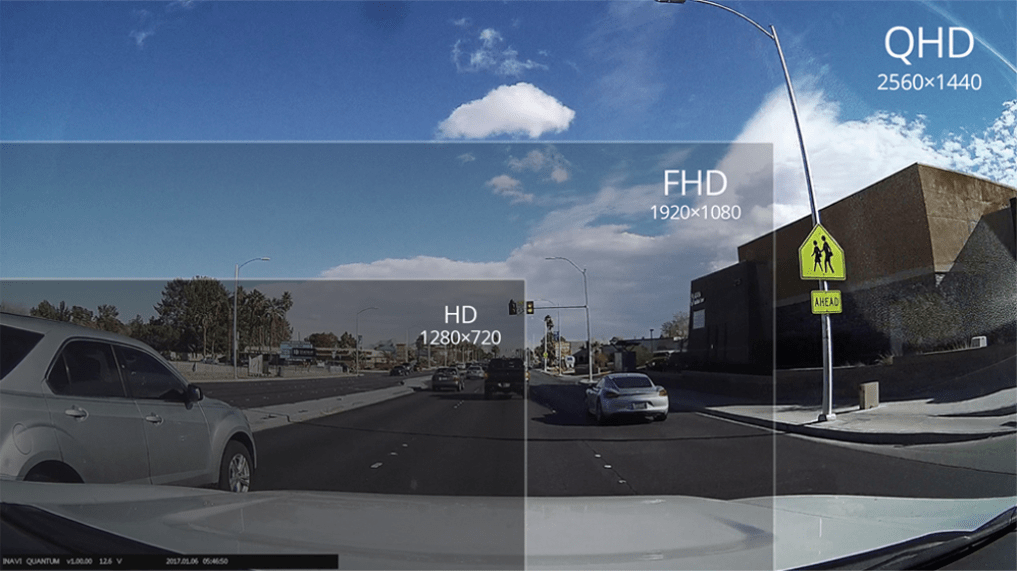Thinkware Q800 Pro Dash Cam Full HD Viewing area