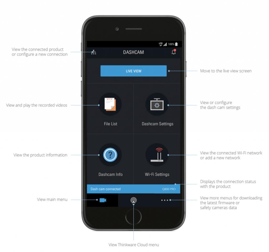Thinkware Q800 Pro phone app