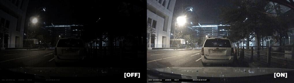 Thinkware F770 Super Night Vision Comparison