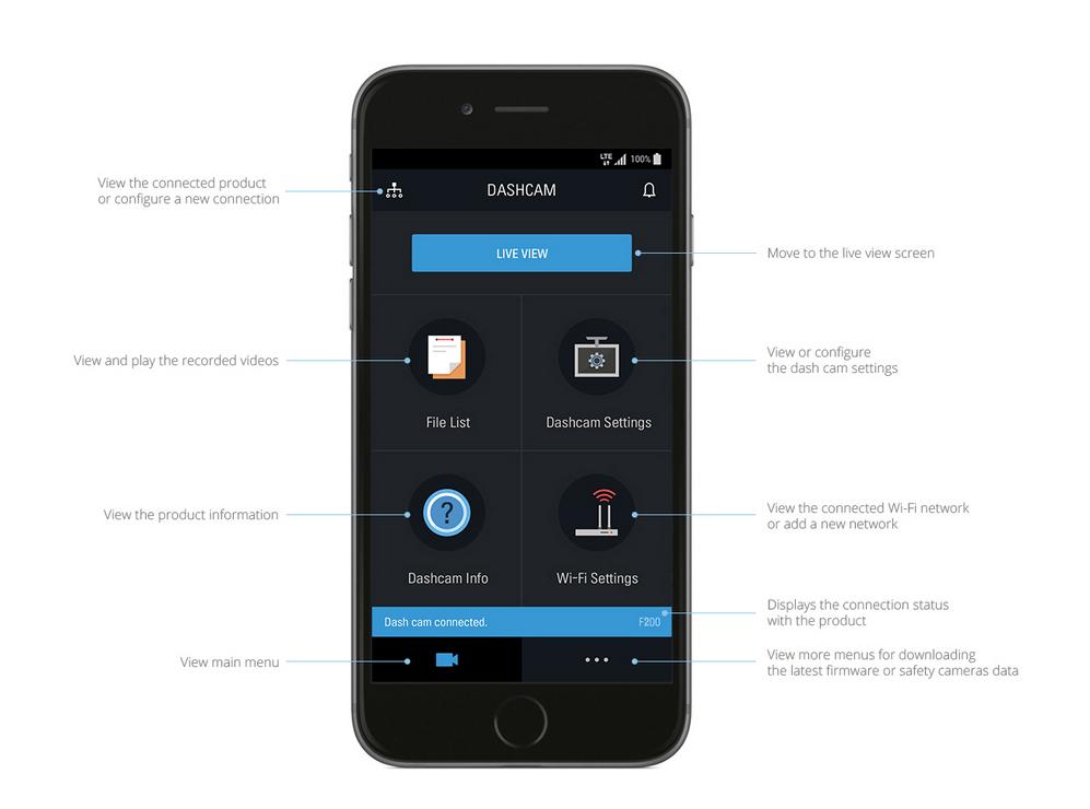 Thinkware F200 Smartphone App