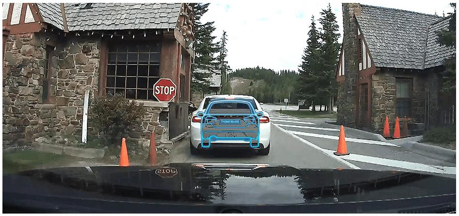 Thinkware F70 Dash Cam Front vehicle departure warning