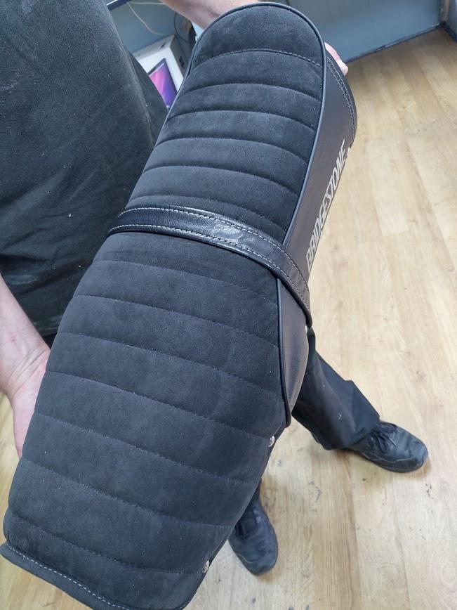 Bridgestone motorbike seat upholstery