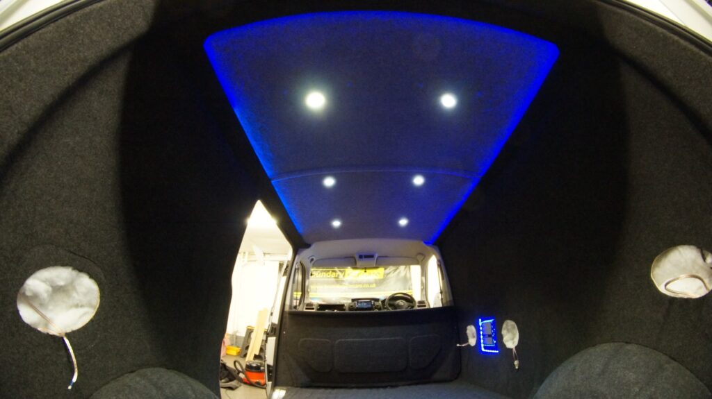 Custom van interior lighting