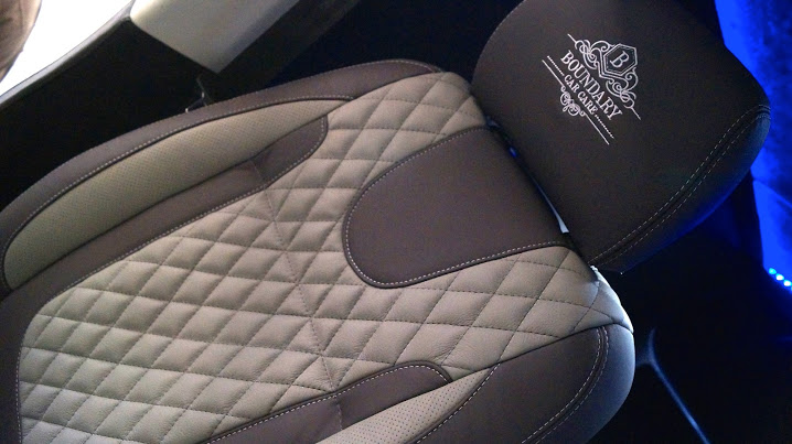 Custom leather upholstery