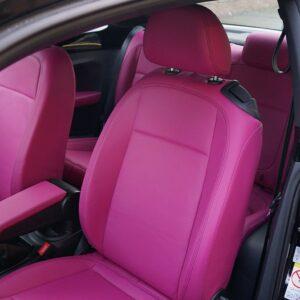 Custom pink Volkswagen Beetle leather interior